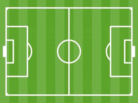 terrain foot: vecteur terrain de football Illustration