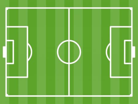 soccerfield: vector voetbalveld
