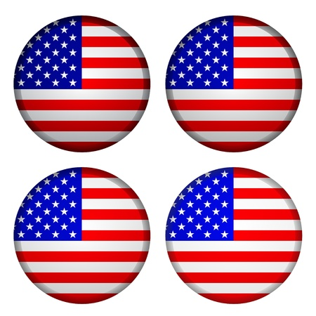 united states flag: Vector USA flags