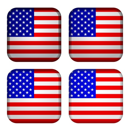 national flags: Vector USA flags