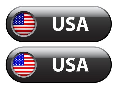 flag button: Vector USA flag buttons
