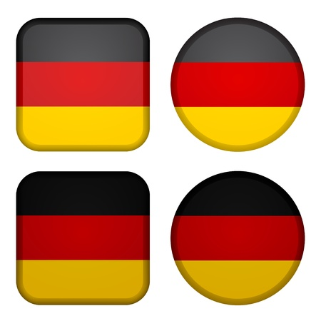 Vector germany flags Stock Vector - 11520425