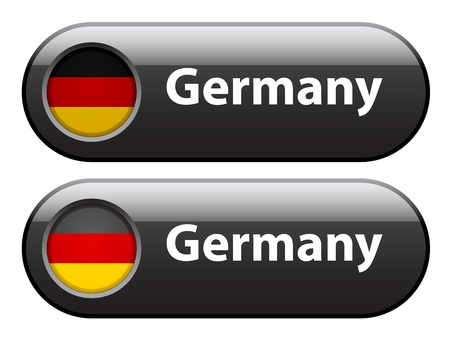 Vector germany flag buttons Vector