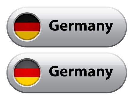 germany flag: Vector germany flag buttons