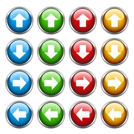 flecha derecha: botones de flecha del vector