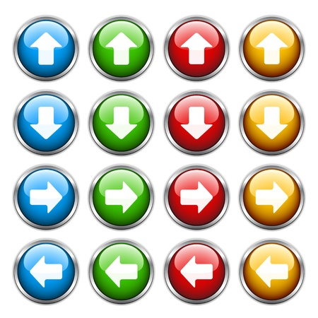 arrows circle: vector arrow buttons