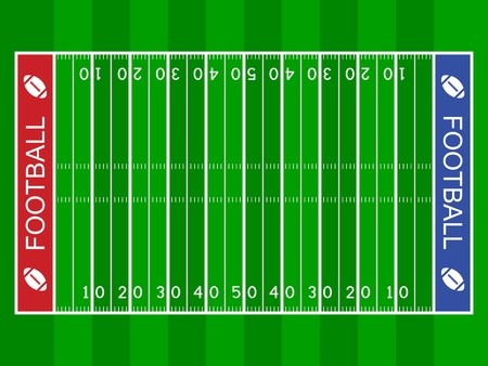 football kick: vector american football field