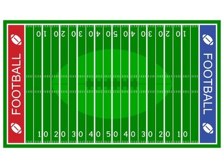 american football stadium: vector american football field