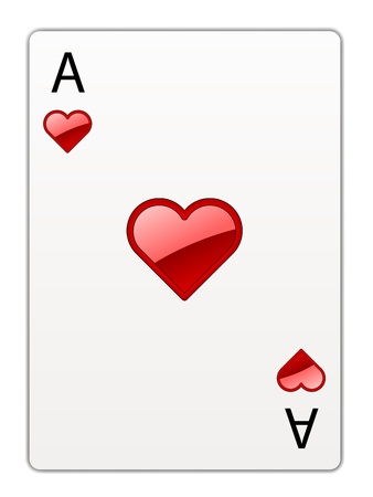 ace of clubs: vector heart ace
