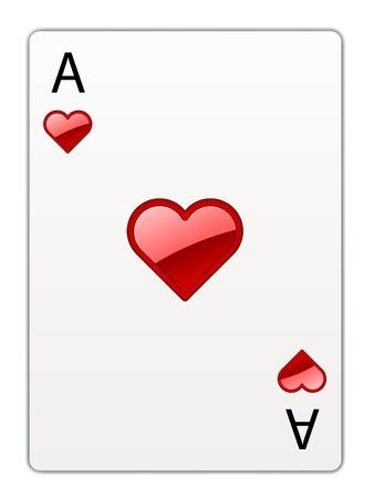 ace of hearts: vector heart ace
