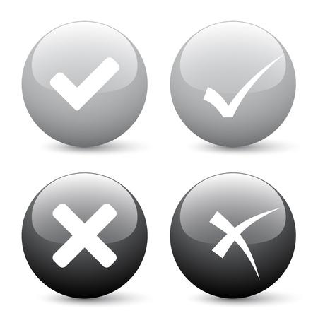 vector check mark buttons Stock Vector - 11519920