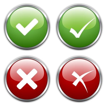 vector de los botones de activación de marca