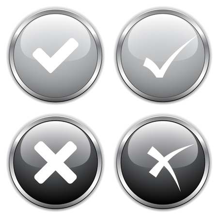 vector check mark buttons Stock Vector - 11519994