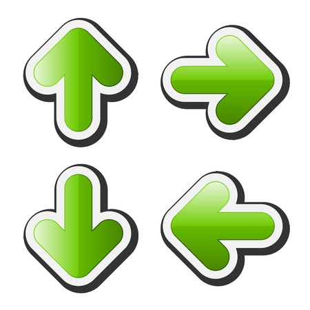 freccia destra: frecce vettoriali Vettoriali