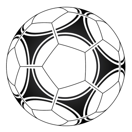 leather ball: vector de pelota de f�tbol Vectores