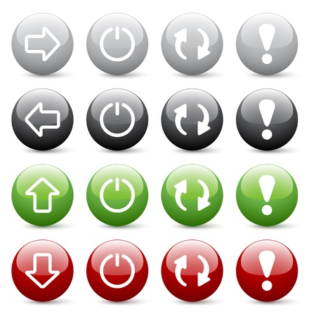 refresh button: Vector glossy web buttons Illustration