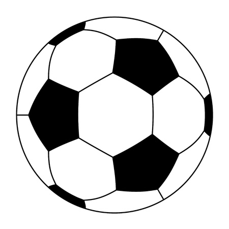 goal kick: vector soccer ball Illustration