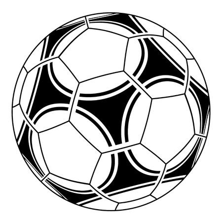vector de pelota de fútbol Ilustración de vector
