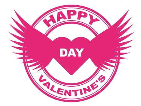 verified stamp: vector valentine stamp