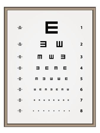 sight chart: vector de la prueba de Snellen carta