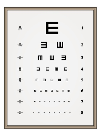 test equipment: vector Snellen eye test chart