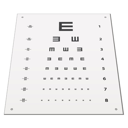 Vector Snellen Eye Test Chart Royalty Free Cliparts Vectors And