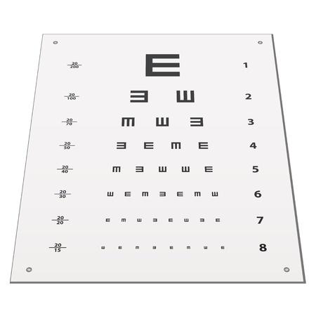 snellen: vector Snellen eye test chart