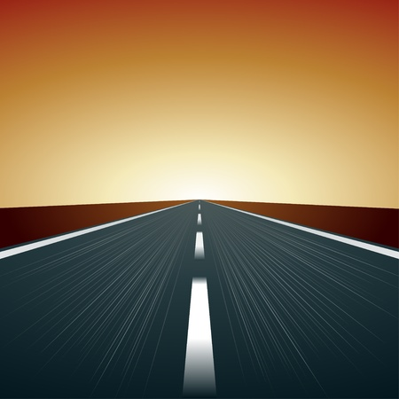 road ahead: vector blurred road Illustration