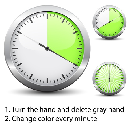 countdown timer: Vector timer - easy change time every one minute
