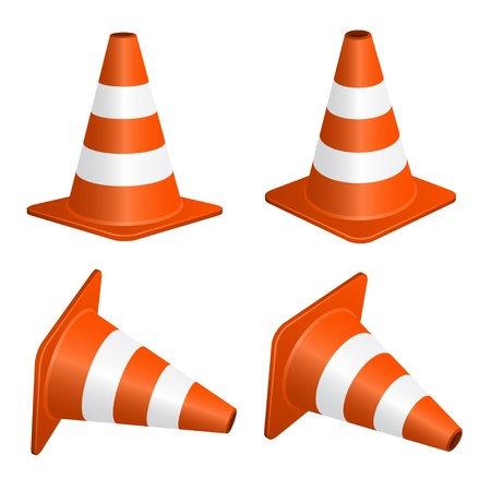 road marking: vector traffic cones