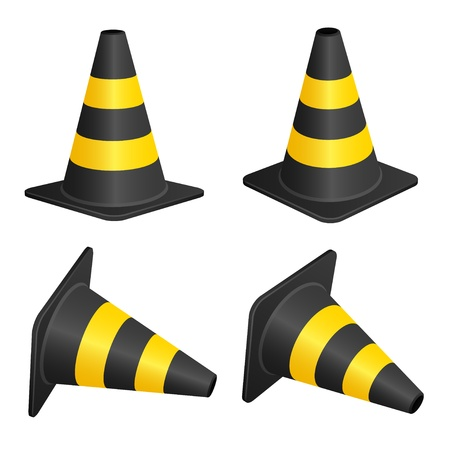 traffic cone: vector traffic cones