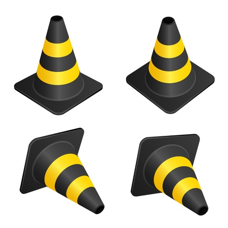 obstacle: vector traffic cones