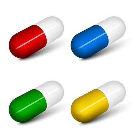 capsules: vector pills Illustration