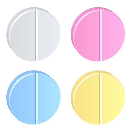 narcotics: vector colored tablets