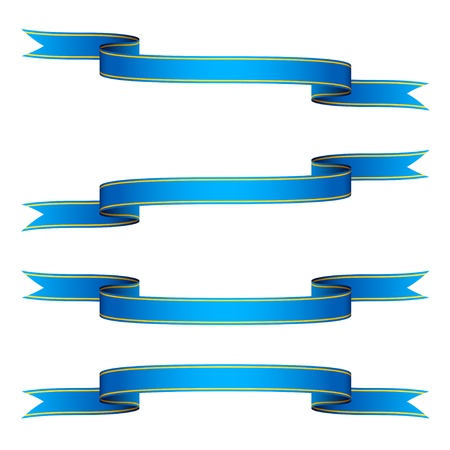 blue banner: vector ribbons