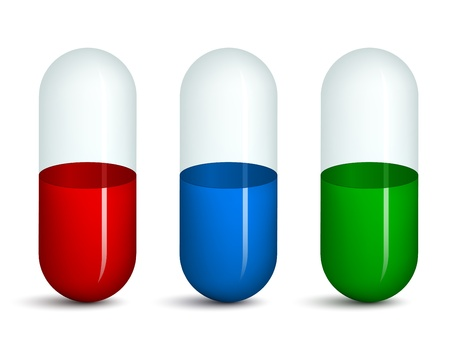 vector empty transparent pills Vector