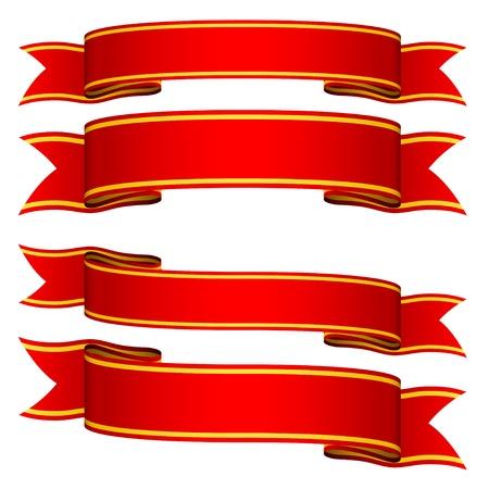 raso: vettore nastri rossi Vettoriali