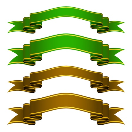 green bow: vector ribbons