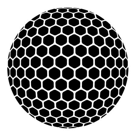 pelota de golf: vector de una pelota de golf