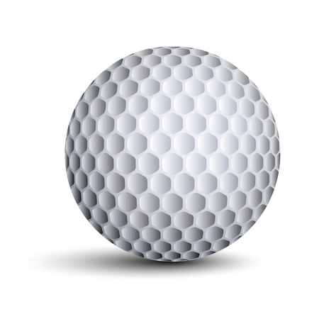 golf hole: vector golf ball Illustration