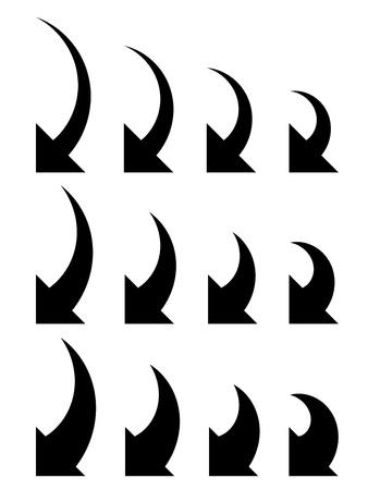 turn left: vettoriale frecce collezione Vettoriali
