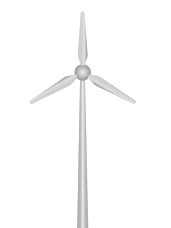 air power: vector wind power plant Illustration