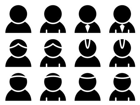 icônes vectorielles personne de race noire