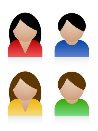 man vrouw symbool: Vector man vrouw pictogrammen