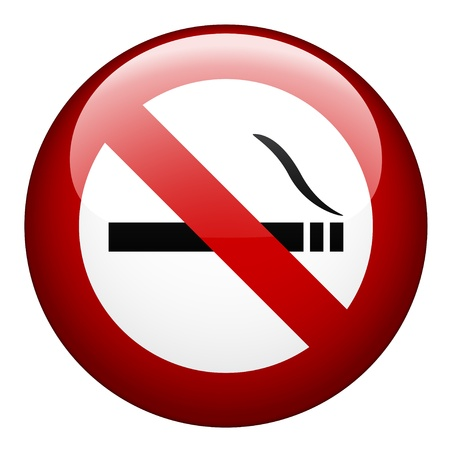 prohibido fumar: vector de no fumar la marca
