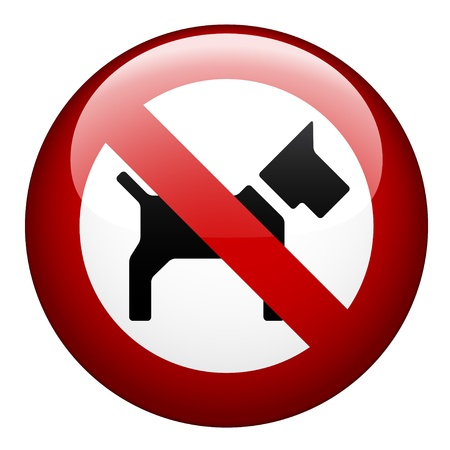 is prohibited: vector ning�n perro marca Vectores