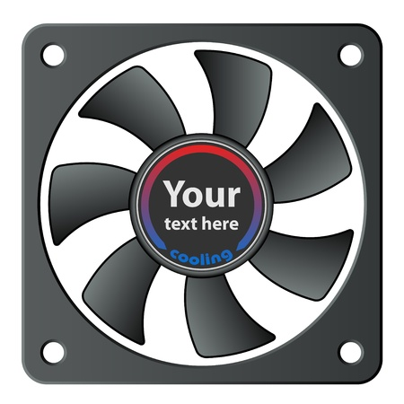 vector computer fan Stock Vector - 11520119