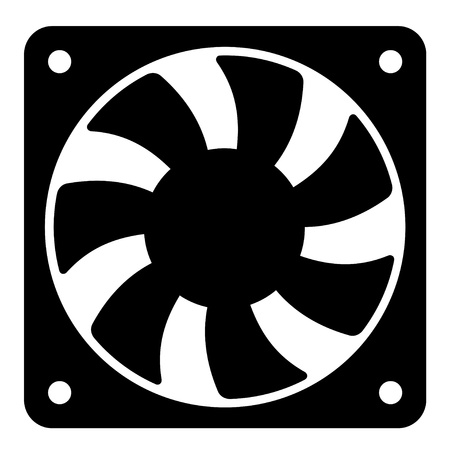 cooler: vector computer fan Illustration