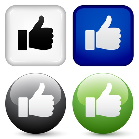 thumb up: vector thumbs up buttons