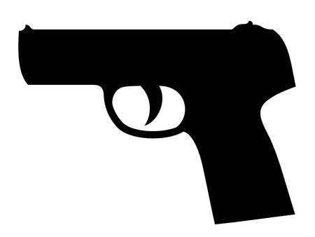 pistola: vector silueta de pistola Vectores